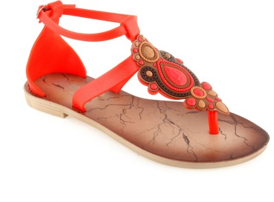 Shoe Lab Women Red Flats