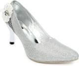 Cute Feet Women Silver Heels