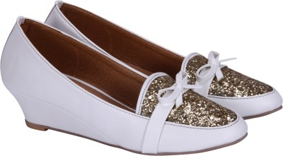 Fashion Mafia Women White Wedges