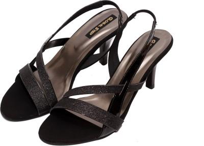 Global Step Women Black Heels