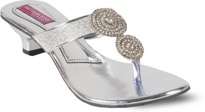 Harshit Footwear Women Silver Heels