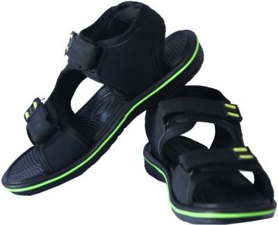 Triqer Men Black Sandals