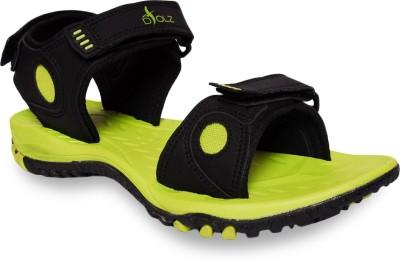 D,Solz Men Black, Green Sandals