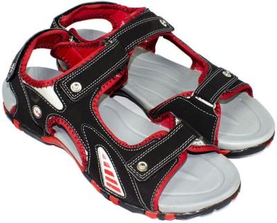 Maayas Men Black, Red Sandals