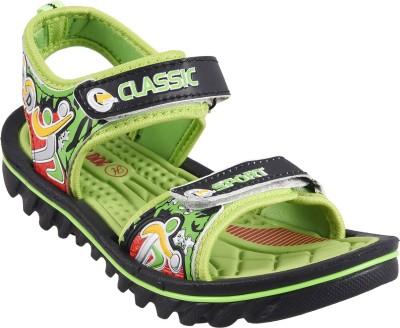 Hot Dog Boys, Girls Green Sandals