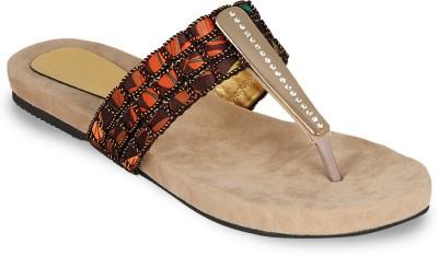 DJH Women Beige, Multicolor Flats