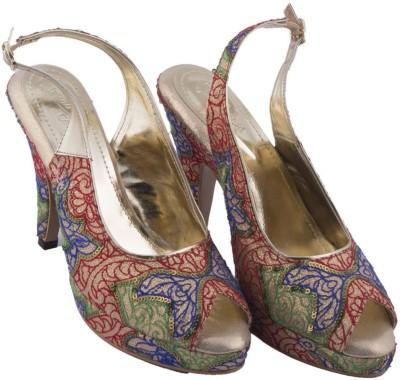 Siendo Desi Women Multicolor Heels