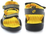 Lotto Men Grey/Yellow Sports Sandals