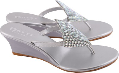 Zotti Sparkle Women Silver Wedges