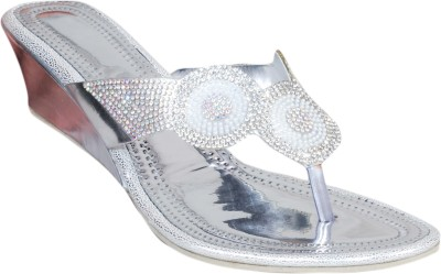 Styleon India Women Silver Wedges