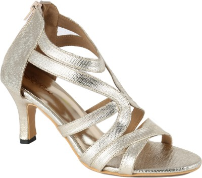El Cisne Women Gold Heels