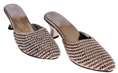 American Cult Women Silver Heels