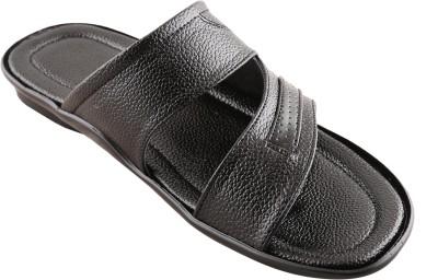 New V K Exports Men Black Sandals