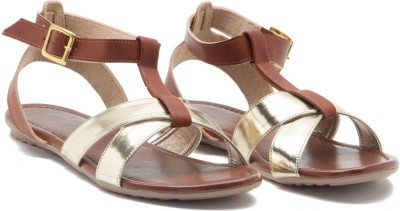 ALETA Women Gold, Tan Flats