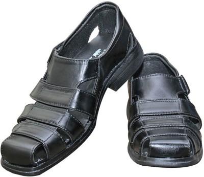 Parbat Men Black Sandals