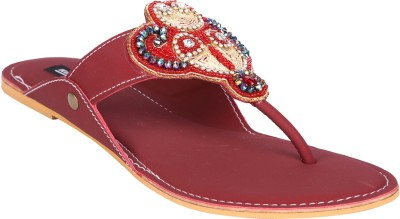 karizma shoes Women Maroon Flats
