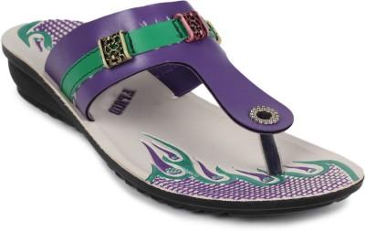Fluid Pu Ladies Women Purple Flats