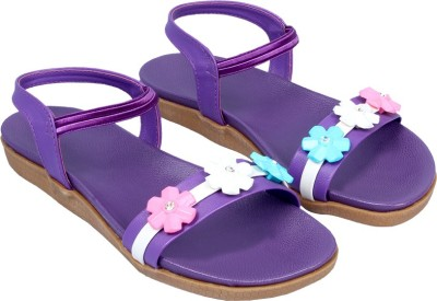 Small Toes Baby Girls Purple Sandals
