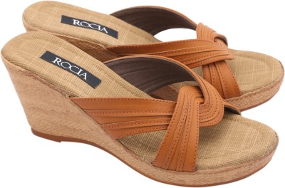 Regal Shoe Women Tan Wedges