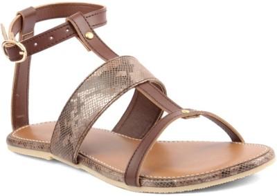 Stepee Women Brown Flats