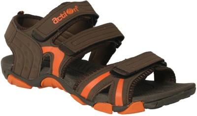 Action Shoes Men Brown, Orange Sandals