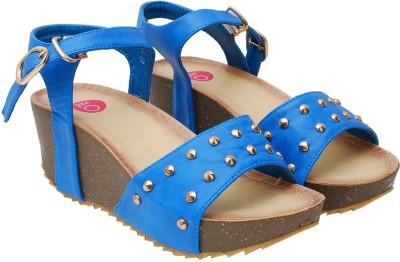 iLO Women Blue Wedges