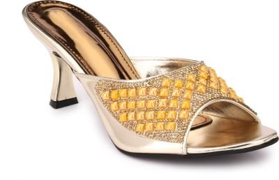 Koyka Women Gold Heels