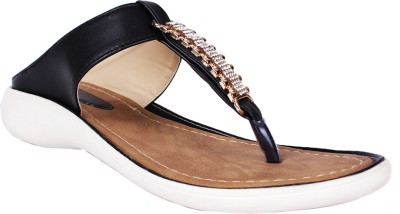 SCANTIA Girls Black Sandals