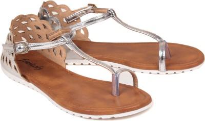femitaly Women Silver Flats