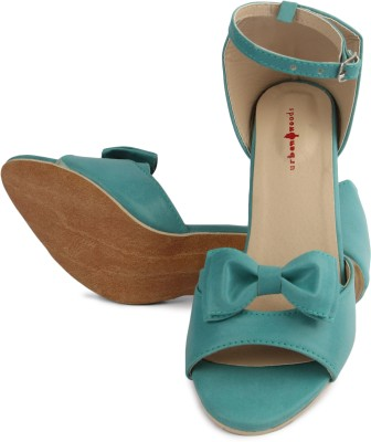 Urban Woods Women Green Heels