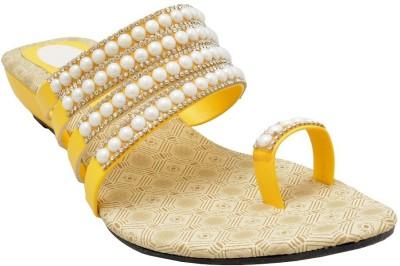 Samadhaan Women Yellow Heels