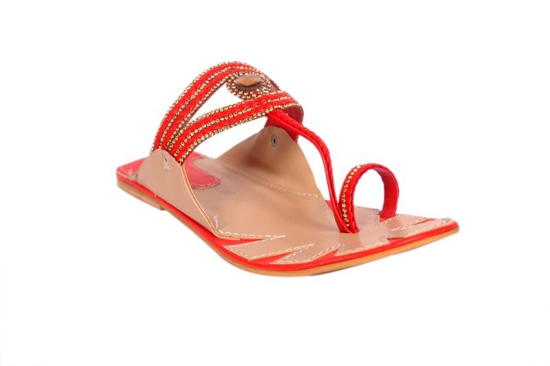 Bora Bora Women Red Flats SNDEGSNFYKRHUUYE