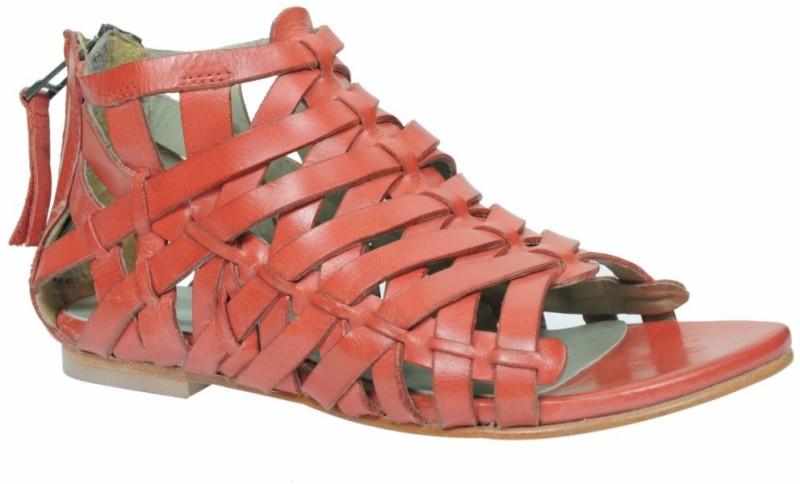 Sakay Women Red Flats