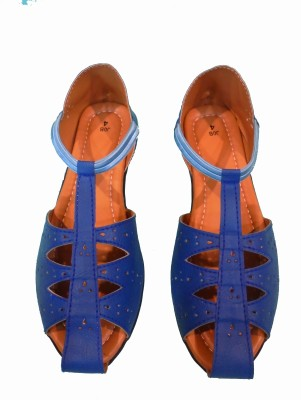 Kolapuri Center Women Blue Flats