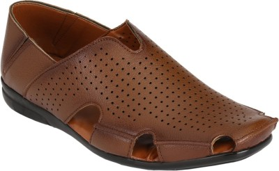 Azzaro Black Men Tan Sandals