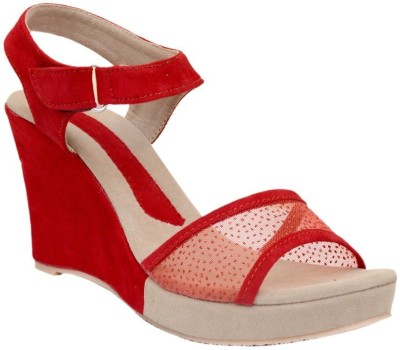 Mobiroy Women Red Wedges