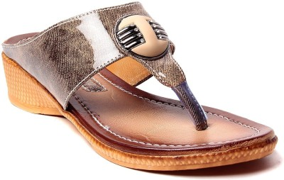 Laila Collection Women Brown Wedges