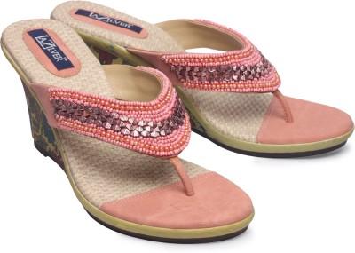 La Zilver Women Pink Wedges