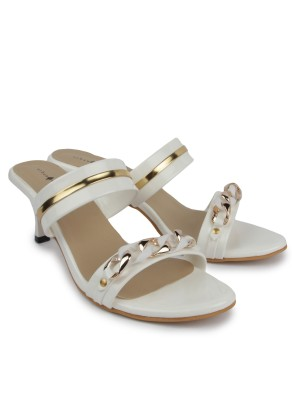 Urban Woods Women White Heels