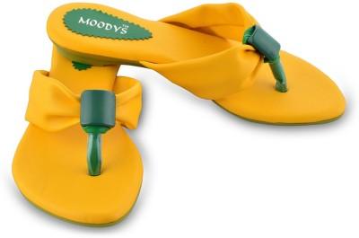 Moodys Women Yellow Flats