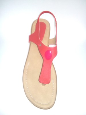 BAMBINI Girls Red Flats