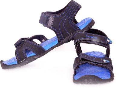 Goldstar Women Black, Blue Sports Sandals