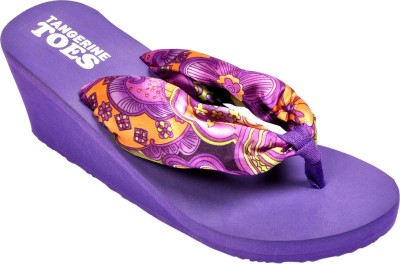 Tangerine Toes Women Purple Wedges at flipkart