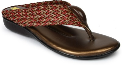 Rise Women Brown, Red Flats