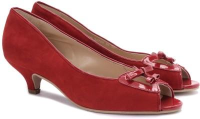 Enroute Women Women Red, Beige Heels