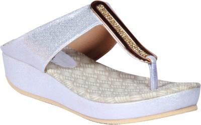 Funku Fashion Women Silver, Silver Wedges