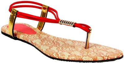 Scantia Girls Red Flats