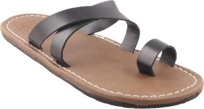 Gasser 871-blk Men Black Sandals
