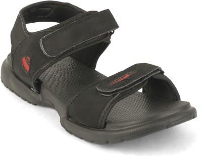 Best Walk Airtop Men Black Sandals