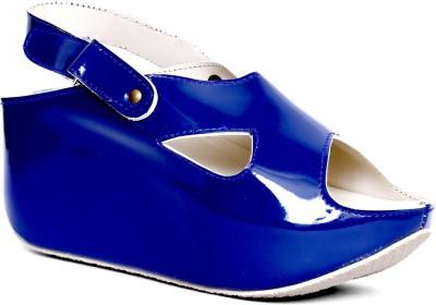 Marc Loire Women Blue Wedges